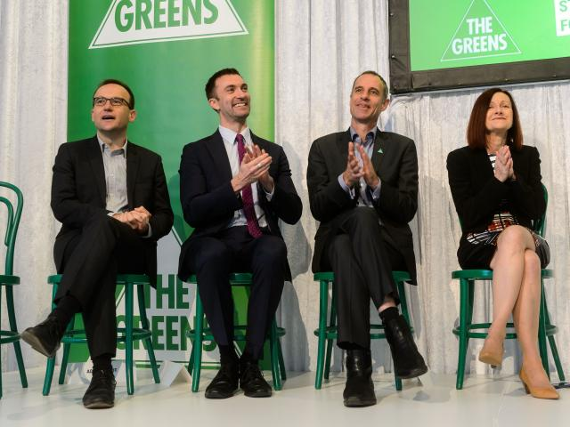 Robert Simms, Nick McKim, Adam Bandt and Rachel Siewert